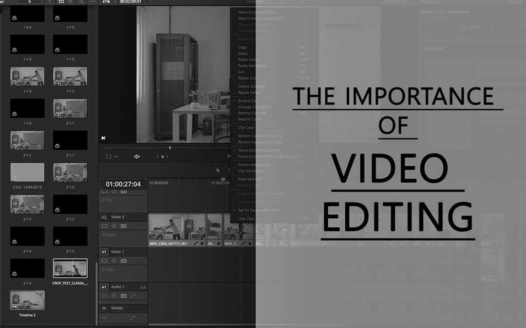 Importance of video editing - cineeye affordable video production in london